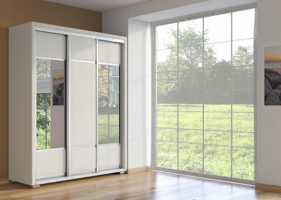 шкаф купе трехдверный Orma Soft 2 с двумя зеркалами